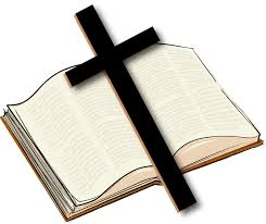 Bible and cross image